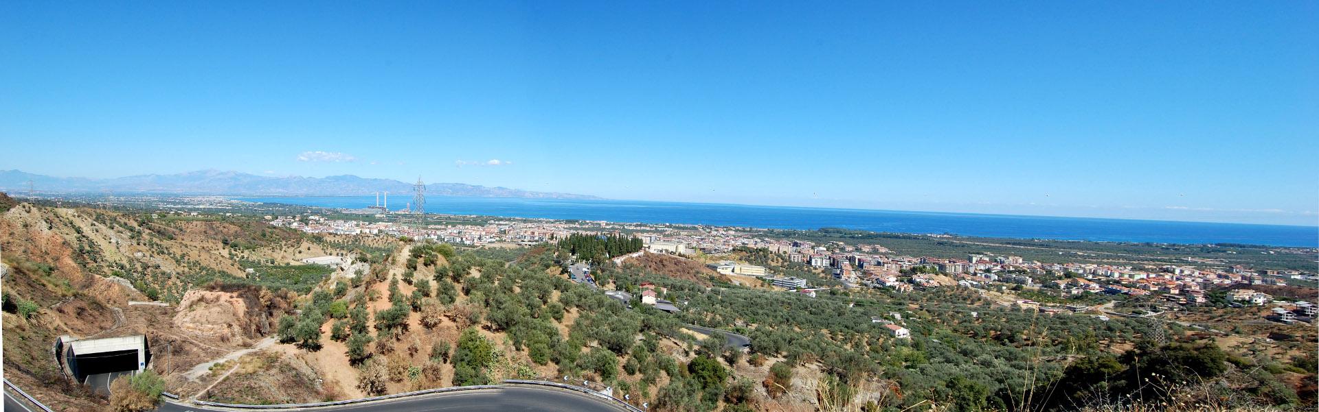 Panorama di Rossano Calabro dal Parco Lauro