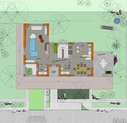 Lotto con progetto per la costruzione di una villa da 116 Metri Quadri a piano