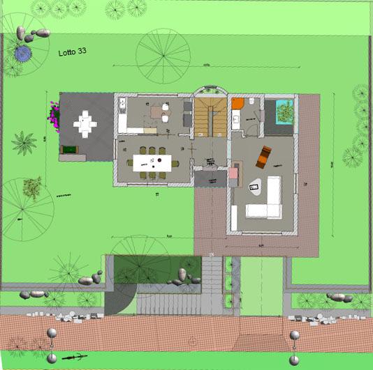 Lotto con progetto per la costruzione di una villa da 100 Metri Quadri a piano